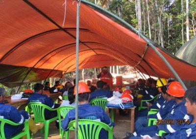 Capacitación al personal - Obra. Construcción y ejecución de las obras civiles en la planta electrica, distrito de punchana, maynas, loreto