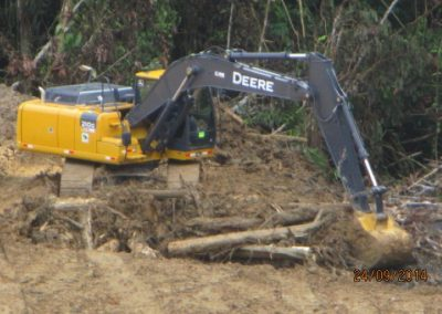 Corte de terreno - Obra. Construcción y ejecución de las obras civiles en la planta electrica, distrito de punchana, maynas, loreto