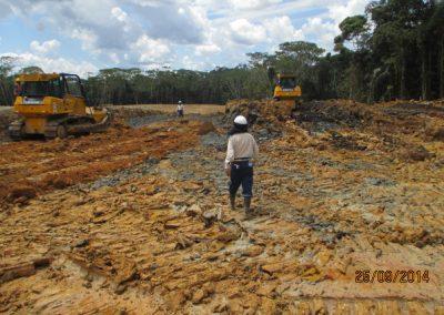 Corte y nivelación de terreno - Obra. Construcción y ejecución de las obras civiles en la planta electrica, distrito de punchana, maynas, loreto