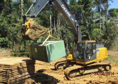 Montaje de tanques para almacenamiento de combustible - Obra. Construcción y ejecución de las obras civiles en la planta electrica, distrito de punchana, maynas, loreto